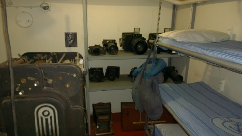 Print and Photography room - note beds for crew that work in this area - each area had them
