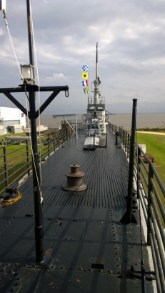 USS Drum top deck