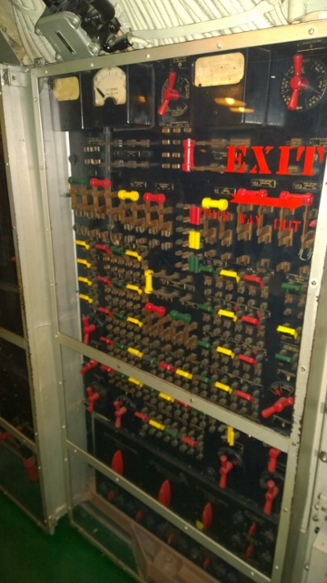 Electical panel - plexiglass added for safety - can you imagine walking by open panel!