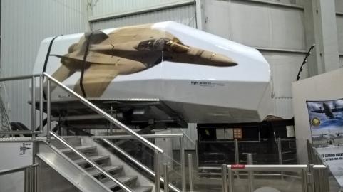 Flight Simulator in action with Joel inside