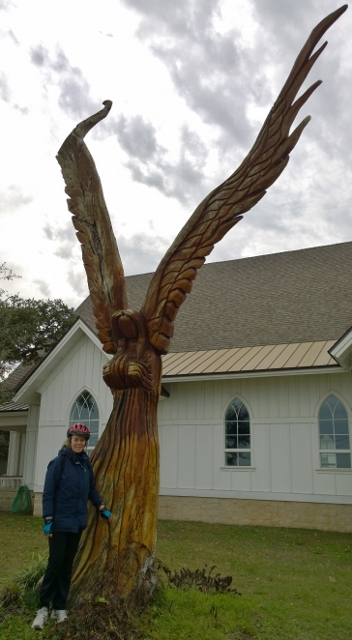 Live Oak Angel sculpture