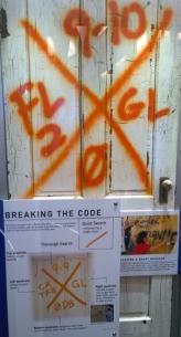 Emergency door markings after hurricane