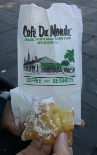 Beignets have lots of icing sugar on top