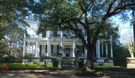 Greek Revival Style - large porch with pilars