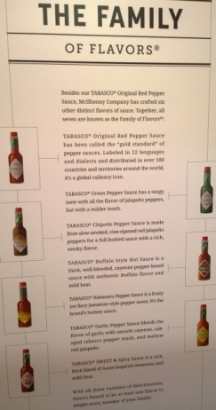 Tabasco 7 core products