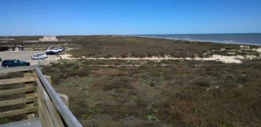 View from Padre Island visitor centre