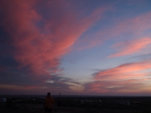 Post sunset from the hill