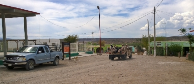 Military Hummer in Boquillas del Carmen