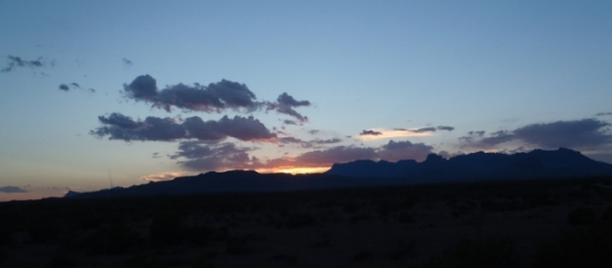 Sunset over Chisos Mountains