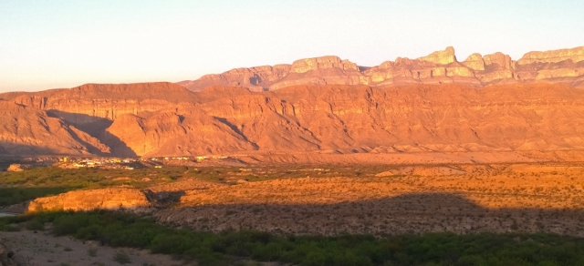 Boquillas at sunset
