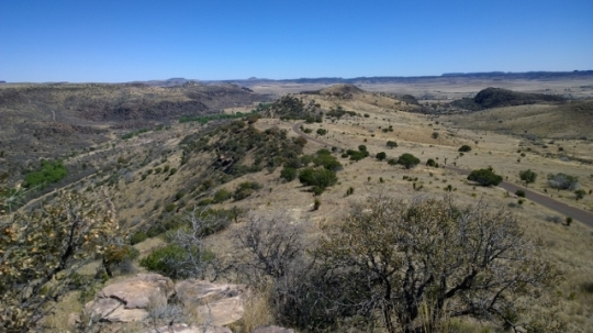 View towards Fort Davis