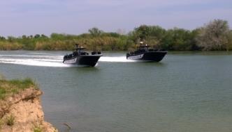 Texas Highway Patrol on Rio Grande River
