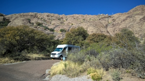 Our campsite at Hueco Tanks