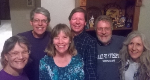 Barb, Dan, Sharon, Joel, Ed, Becky