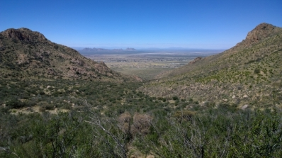 View back towards Las Cruces