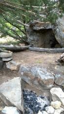 Primitive campsite