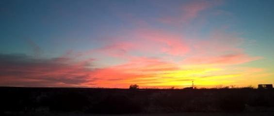 Sunset at Zip Line Campground