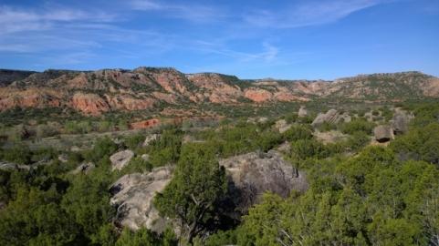 View going up Rock Garden Trail