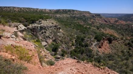 View going back down Rock Garden Trail