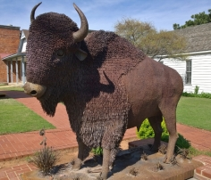 Cool Metal Bison Sculpture