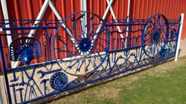 Blacksmith Sculpture Fence