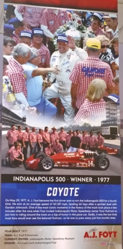 AJ Foyt - 4 time Indy 500 winner