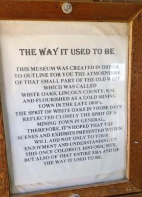 White Oaks Museum