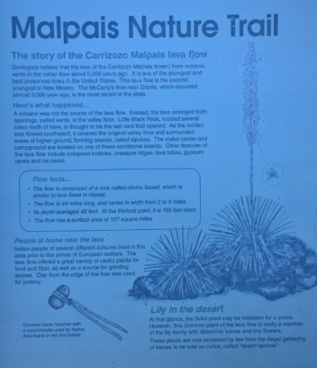 Valley of Fires - Malpais Nature Trail
