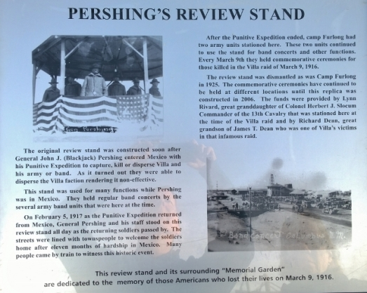 Pershing Review Stand replica