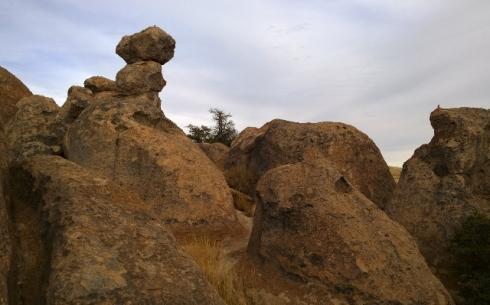 City of Rocks - Birds on 2 rocks