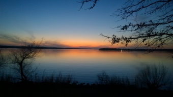 Sunset at Lake Thunderbird State Park Oklahoma