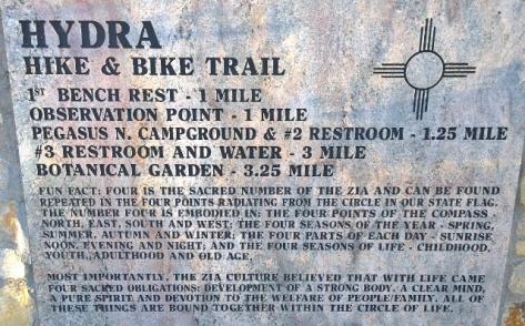 Hydra Trail and Zia info