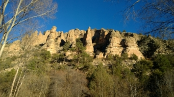 Cliffs above Gila Hot Springs