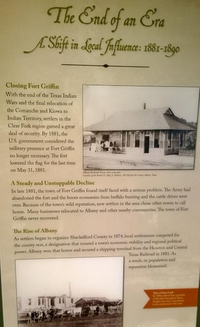 Fort Griffin - Closure