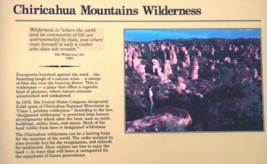 Chiricahua becomes Class I Wilderness 1976