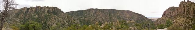 Panoramic Rhyolite Canyon