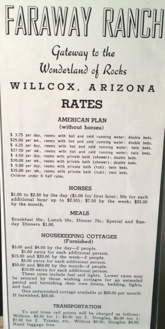 Faraway Ranch Prices