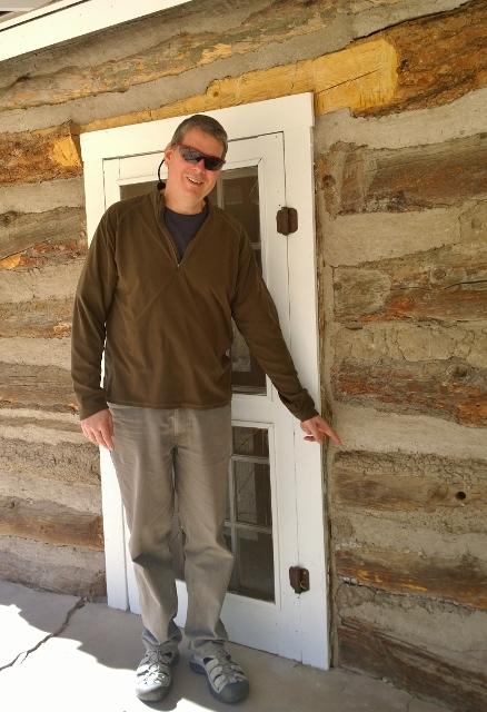Stafford Cabin - Bark on logs