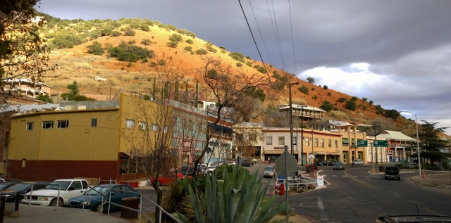 Old Bisbee near sunset