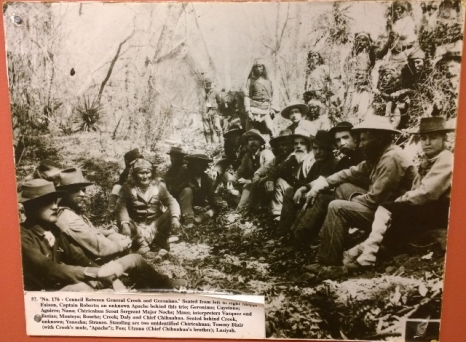 C.S. Fly photo of Geronimo signing Peace Treaty