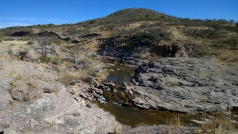 Spillway Creek with Overlook behind