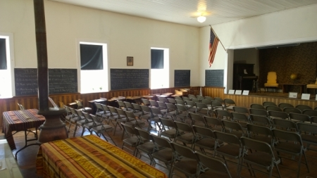 Schoolhouse (setup for a meeting)