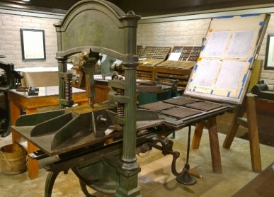 First Arizona printing press