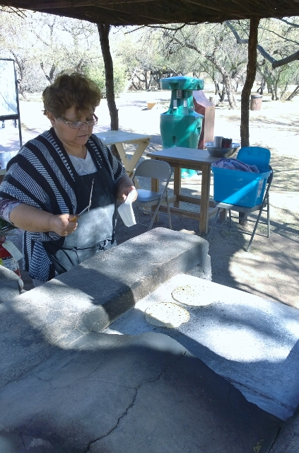 Freshly made tortillas