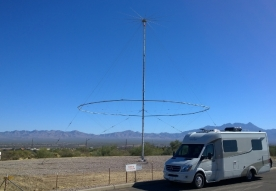 Our RV by Short Wave Radio Antenna