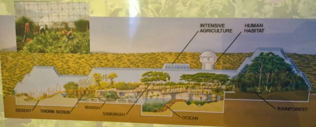 Layout for main area of Biosphere 2