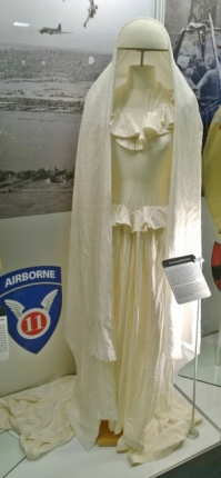 Parachute Bridal dress - done with silk from parachutes