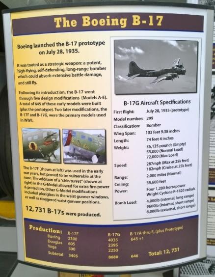 B-17 Specs