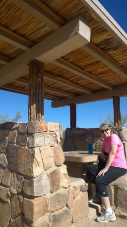 CCC built picnic shelter