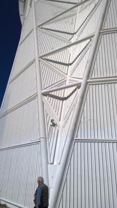 Steel exterior support